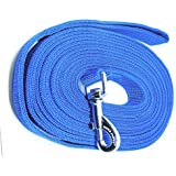 Mera Puppy Long Dog Leash for Medium to Big Dogs (Blue, 20 ft)