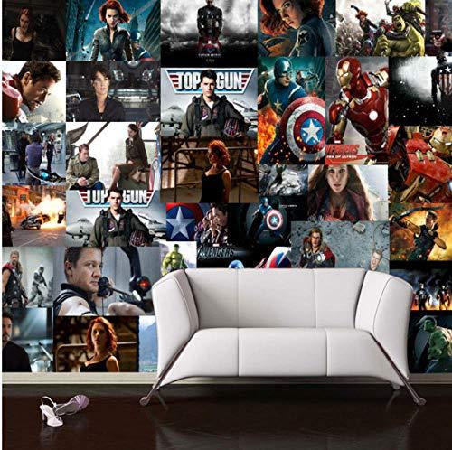 Mbwlkj 3D Wallpaper Marvel Heroes Fototapete Captain America Fototapete Kid Schlafzimmer Room Decor Tv Hintergrund 3D Wallpaper-200cmx140cm -