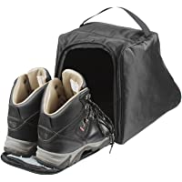 Case4Life Black Water Resistant Boot Bag. Ideal For Work Boots, Walking Boots, Hiking Boots Or Rugby/Football Boots.