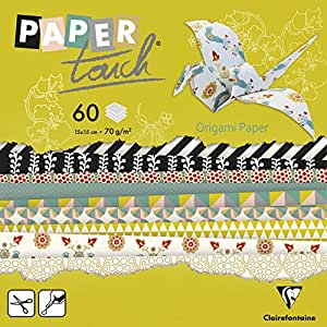 Clairefontaine Paper Touch papier à origami, multicolore
