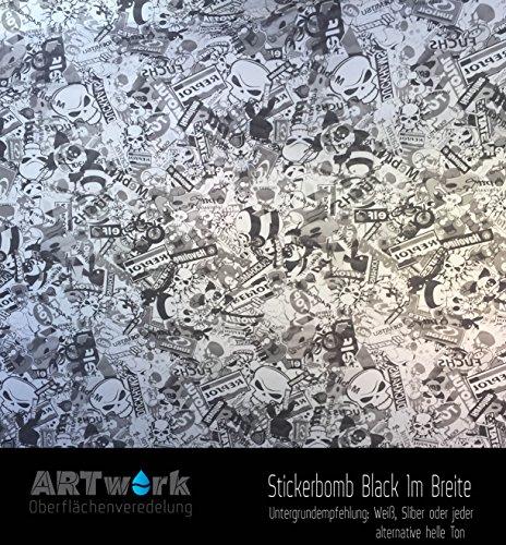 Preisvergleich Produktbild Wassertransferdruck Starterset ARTwork 1qm Stickerbomb Black 100cm Breite