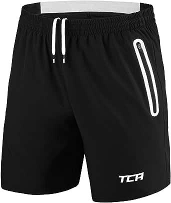 TCA Men's Elite Tech Lightweight Running or Gym Training Shorts with Zip Pockets