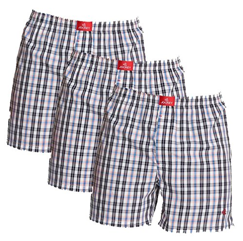 Jockey Boxer Checked Shorts - Assorted Pack Of 3 (colors May Vary)