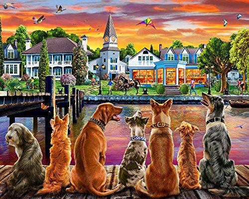 Dockside Hunde Jigsaw Puzzle 1000 Teile - Jig Hund Saw Puzzle