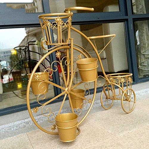 LJ Estantería europea creativa del balcón del estilo ( Color : Oro )