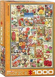 Eurographics Rompecabezas quot;Catálogo de Semillas de Flores, 1.000 Piezas