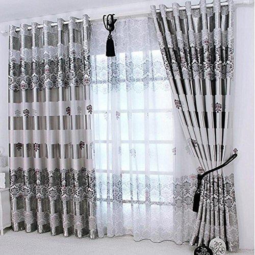 TINE HOME CURTAINS New Vorhänge für Windows Drapes europäischen Moderne Elegante Noble Druck Schatten Vorhang für Wohnzimmer Schlafzimmer Groß size-1pc, 1pc(200 * 270 cm?