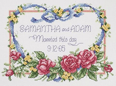 Janlynn Metal Married This Day Counted Cross Stitch Kit