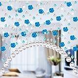 JiaMeng Crystal Glass Rose Bead Cortina Sala Dormitorio Puerta Ventana Boda decoración Pegatinas