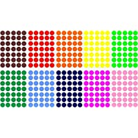 Akacha - Set of Self-Adhesive Stickers, 350Round Shapes, Mixed Colours, Scrapbooking Card, 2cm