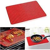 Herramientas de la cocina™ Blyax rojo acúferos Pan molde antiadherente para hornear de silicona estera de bandeja para hornear 1 pc