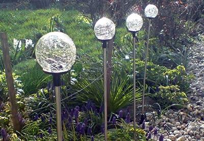 """Solarleuchte """"Kugel"""", LED Gartenleuchte, 4er Set von Nexos Trading bei Lampenhans.de"""