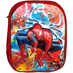 Batu Lee 5D Spiderman 13 inch Red Waterproof Children's Backpack (Pre School)