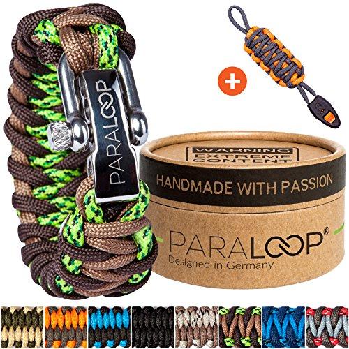 PARALOOP Deluxe ▪ Exklusives Paracord Armband für Herren/Männer & Schlüsselanhänger mit Signalpfeife ▪ inkl. Geschenkbox ▪ Bracelet