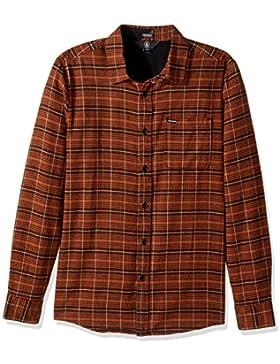Volcom Brodus–Camicia a maniche lunghe Uomo, UOMO, A0531710_M, Marrone (rame), M