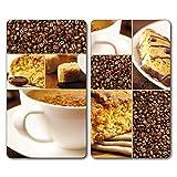 Bütic GmbH, lastre copri piano cottura, taglieri in vetro Coffee 2-teilig