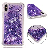 Everainy Coque Compatible pour iPhone XS Max Silicone 3D Paillettes Glitter...