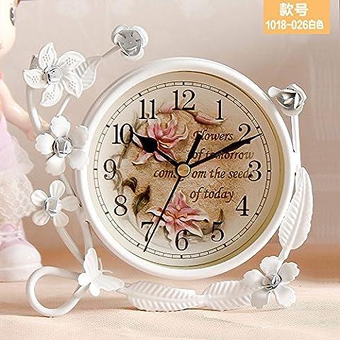 FQQRYY Un idilliaco soggiorno camera da letto orologi mute clockE 12cm ferro da stiro
