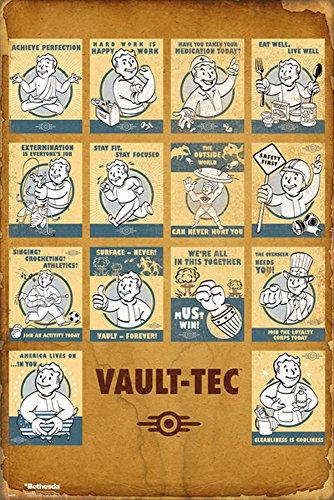 empireposter 736260Fallout 4Vault Tec Compilation Game Videogioco Stampa Poster-dimensioni 61x 91,5cm, carta, multicolore, 91,5x 61x 0,14cm