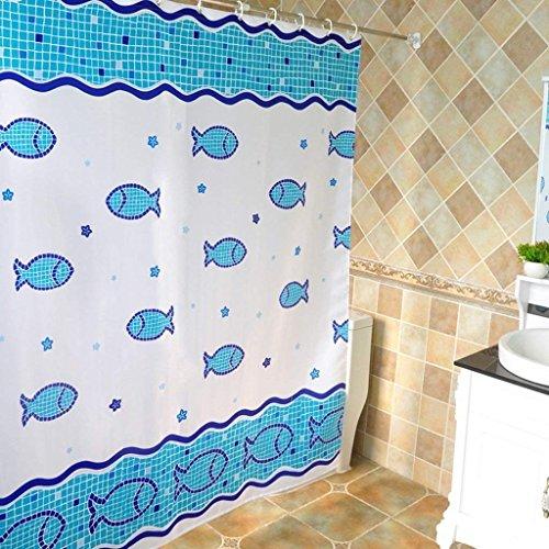 Rideau Erru Duschvorhang Bad Cartoon Warm Halten Dick und Wasserdicht Zum Test Derildewproof WC Partition (Wasserdicht Größe: 180cm*200cm)