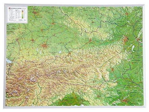 Österreich 1:800.000: Reliefkarte Österreich (Tiefgezogenes Kunststoffrelief)