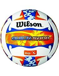 Wilson AVP Quicksand Aloha - Cobertura, color blanco / azul / naranja, talla 7