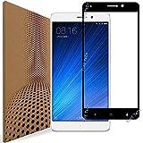 [Coprire Schermo Intero] XiaoMi Mi 5s Plus Pellicola Protettiva Vetro Temperato, VLP Pellicola in Vetro Temperato per XiaoMi Mi 5s Plus (Black)(Bordo Arrotondati 2.5D-Chiarezza 98%-Impronta Resistente)