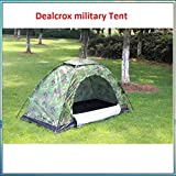 Outdoor Camping Rainproof Waterproof Sunproof Picnic Hiking 4 Person Camouflage Tent with Carry Bag