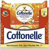 Cottonelle Papel higiénico húmedo, con aceite de naranja, biodegradable, reutilizable, 12 paquetes de 44 toallitas