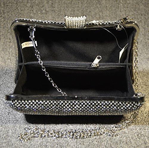 Peacock Dinner Bag borsa sposa Bag Set Elegante coclea signora mini borsa-19733 nero
