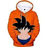 Sudadera con capucha para niños con estampado 3D Dragon Ball con capucha para adolescentes, anime Dragon Ball Z, Goku Broli,