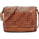 Cox Damen Damen Trend-Umhängetasche aus Leder, Handtasche in Braun mit praktischer Magnet-Schließe (27 x 25 x 9 cm) braun OneSize