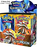 #6: Day All 2018 New Edition Pokeemon Cards are here Pokemon Trading Card Game- 5 Packs (Random) (Sun and Moon GX)