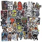 Sanmatic 100 Stücke Star Wars Sticker Pack, Einzigartige Kühle Aufkleber Notizbuch Gitarre Skateboard Reise Aufkleber Wasserdicht