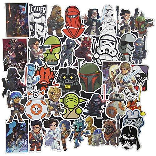 100PCS Star Wars Sticker Pack, cool Aufkleber Notebook Gitarre Skateboard Travel Wasser Flasche Aufkleber wasserdicht series-2
