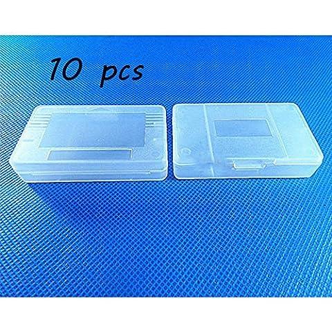 Laixing Bonne Qualité 10pcs Clear White Game Cartridge Case fur Game Boy GBA SP