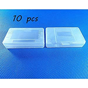 Laixing Gute Qualität 10pcs Clear White Game Cartridge Case fur Game Boy GBA SP