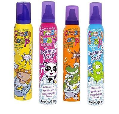 Kids Stuff Crazy Soap Pink Green Blue White Foaming Soap 225ml