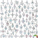 20 unidades de colgantes de perlas de ostra de estilo mixto – difusor de aceite esencial para pulseras de piedras de lava, collar, bricolaje, joyería