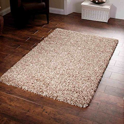 shaggy-rug-beige-963-plain-5cm-thick-soft-pile-200cm-x-290cm-6ft-7-x-9ft-6-modern-100-berclon-twist-