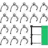 UTEBIT Set di Clip per Sfondo 16 Pezzi Morsetti per Sfondo Clip in Metallo con Corda Elastica Retrattile per Studio Fotografi