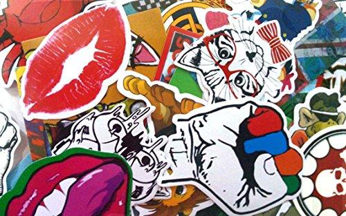 (30 Stück) Aufkleber für Skateboard Snowboard-Weinlese-Vinylaufkleber-Graffiti Laptop Gepäck Auto-Fahrrad-Decals mischen Lot Art- und Weisekühler/Auto-Aufkleber (Skate Kunst Roller)