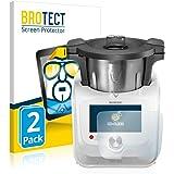 BROTECT Protector Pantalla Compatible con SilverCrest Monsieur Cuisine Connect Protector Transparente (2 Unidades) Anti-Huell