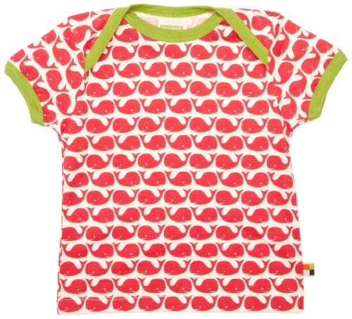 Loud + Proud Unisex - Baby T-Shirts Tierdruck 204, Gr. 62/68, Pink (Rosenrot )