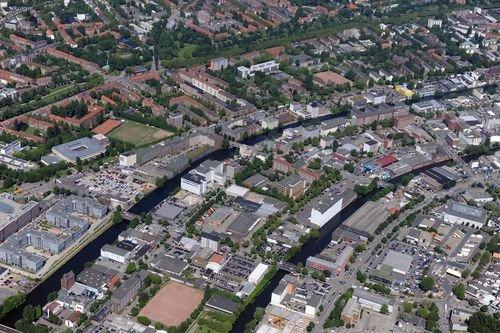 MF Matthias Friedel - Luftbildfotografie Luftbild von Ausschläger Weg in Hammerbrook (Hamburg), aufgenommen am 25.05.09 um 15:58 Uhr, Bildnummer: 5331-03, Auflösung: 6048x4032px = 24MP - Fotoabzug 50x75cm