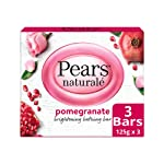 Pears Naturale Pomegranate Brightening Bathing Soap Bar, 125 g (Pack of 3)