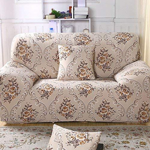 BAIF 1/2/3/4 Sitzer Flexibler Druck Sofabezug elastischer Stretch Couchbezüge Loveseat SofaCover Heimtextilien Kissen Kissenbezug (90-300cm), A5827,3 Sitzer 185-230cm -