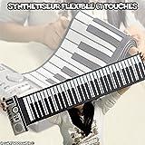 Rouler souple clavier piano synthétiseur avec touches programmables