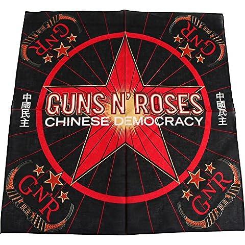 Guns N Roses–Cinese democrazia Bandana in nero/rosso