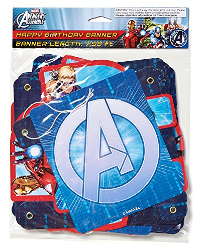 American Greetings Marvel Avengers Birthday Party Banner, Party Supplies